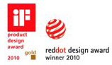 IF 2010 Gold award and RedDot 2010 award